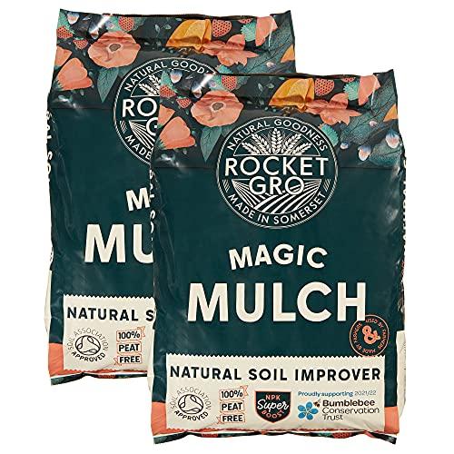 RocketGro Soil Improver for Organic gardening 2 x 50 litre 100% Peat...