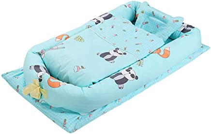 YANGGUANGBAOBEI Baby Lounger Cushion- For Bed Travel Bed Safer Comfortable Co-Sleeping The All One Baby Lounger I