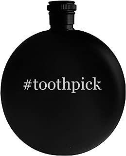 #toothpick - 5oz Hashtag Round Alcohol Drinking Flask, Black