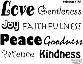 Create-A-Mural Scripture Wall Decals -Love Quote Words, Fruit of Spirit Vinyl Wall Decor Sticker Decals, Galatians 5:22