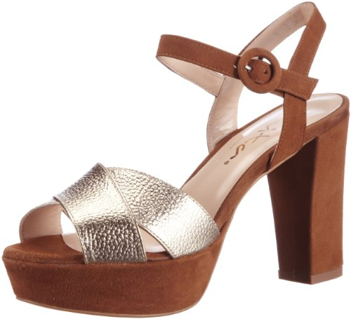 Evita Shoes Damen Sandalette elegant Sandalen, Braun (braun), 40