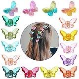 Kalolary 16 piezas Pinzas de pelo de mariposa, Clip de mariposa de color Mini accesorios para el cabello de horquilla de mariposa para niñas mini pinza para el cabello