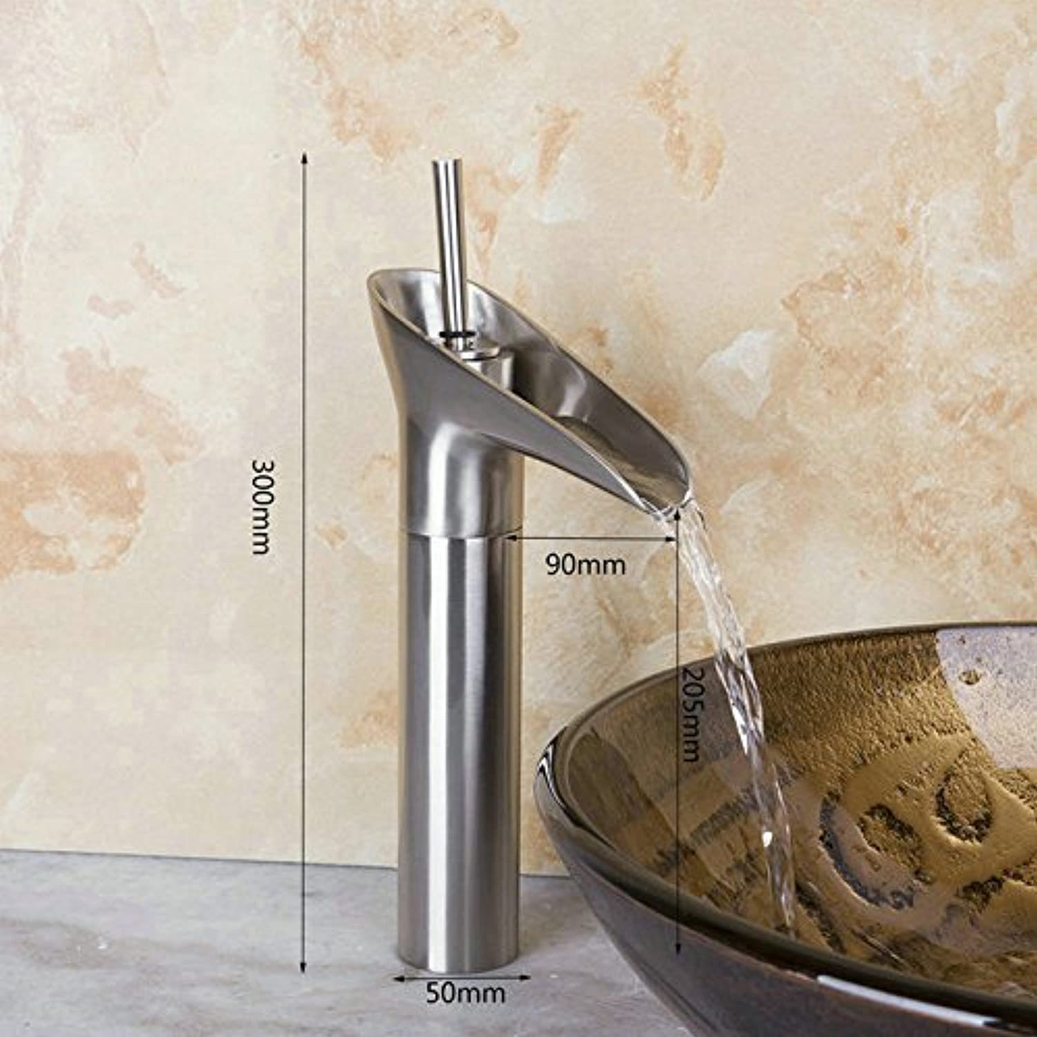 The Brushed Nickel Bridge of The mounting of Bath Rooms Sinks Mixer Faucet Sinks taps
