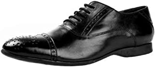 Salt N Pepper Smoke Black LeatherMen Lace Up Shoes