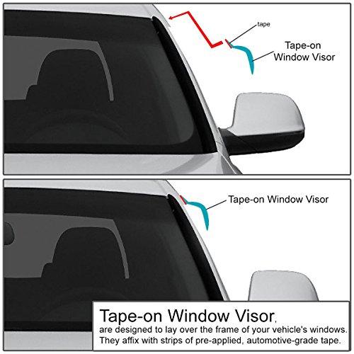 Replacement for Honda Accord CP2 4-Door 4pcs Tape-On Window Visor Deflector Rain Guard