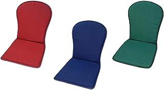MR. COJIN Pack-2 Unidades COJIN Silla Jardin Respaldo MONOBLOC Colores Lisos (Granate)