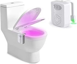 Luz WC–Rantizon Wc Luz Nocturna Luz de Desinfección UV con Detección de Movimiento del Sensor Automático & Aromaterapia ...