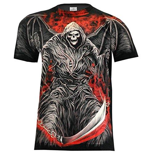 T-Shirt Rock Chang Rock Eagle Heavy Metal Biker Tattoo Rocker Gothic (4002) (XXL)