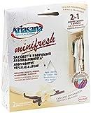 Ariasana Minifresh Coccole di Vaniglia Sacchetti Profumati, Sacchetti Assorbi Umidità e Deodoranti 2 in 1, Deodorante Cassetti, Armadi e Piccoli Ambienti, Sacchetti 2X50G