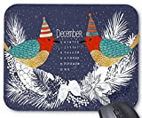 Durable Gaming Mouse Pad, Dezember 2017 Kalender und Birds Design Moues Pad