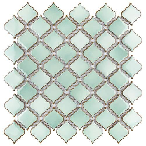 SomerTile FKOLTR32 Tinge Porcelain Mosaic Floor and Wall, 12.37\