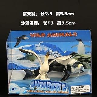 ZILLE - Action & Toy Figures - Arctic Marine Animals whale Polar bear Emperor penguin Seals Beluga Toy model (Pink)