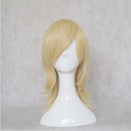 New Maid Sama! Usui Takumi Golden Short 45CM Long Cosplay Costume Wig + Free Wig Cap