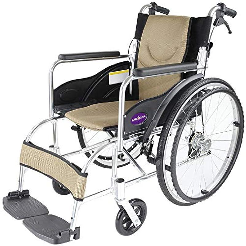 故意のブリリアント人口自走用 アルミ製軽量折り畳み車椅子 禅 ゴールド G102-BG カドクラ