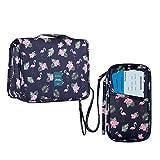 Homchen - Neceser de Viaje, Plegable, Impermeable, portátil, Bolsa de Lavado para Hombres y Mujeres Flamingo Sets Mix Sizes