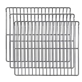 Hisencn Cooking Grate Cooking Rack Replacement Parts for Masterbuilt 30 Inch Electric Smoker, 14.6' x 12.2' Cooking Rack, 3 Pack