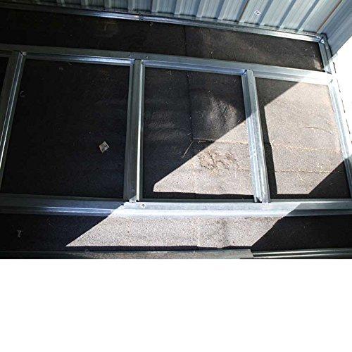 XL Metall Gerätehaus 213x127x185cm Geräteschuppen Garten Schuppen Gartenhaus (Braun) - 4