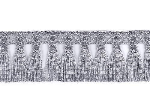 13.5 m 6 Gris Guipure Poliéster de Encaje de la Borla de Flecos Recorte de Ancho 45mm, Flecos Y Borlas, artículos de Mercería