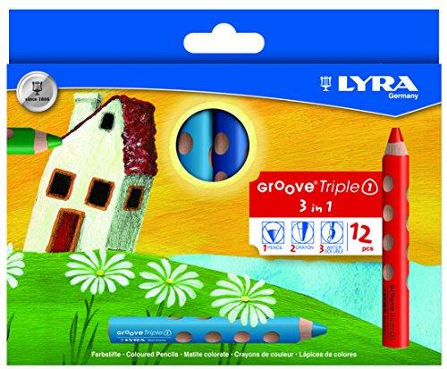 Lyra Groove Triple 1 crayon de couleur 12 Stifte multicolore