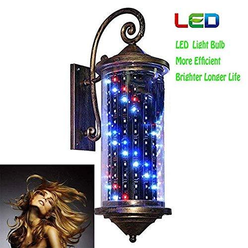 WANGXN 70cm Barber Pole LED licht kapsalon kapsalon kapper kapper teken rood wit blauw lichtstrepen wandlamp