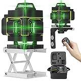 Kecheer Nivel laser autonivelante 16 líneas,Niveles láser 360 grados,Nivelador Láseres de línea suelo y pared,con línea vertical horizontal oblicua