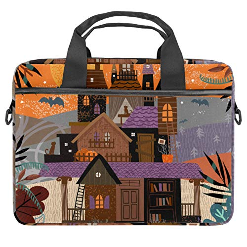 Laptop Bag Trick ot Treat Castle in Forest Notebook Sleeve with Handle 13.4-14.5 inches Carrying Shoulder Bag Briefcase