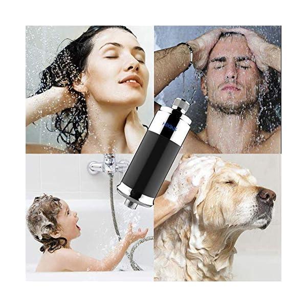 HiKiNS Filtro de ducha, suavizante de agua de 15 etapas, protege tu cabello y la piel, filtro de cabezal de ducha más…