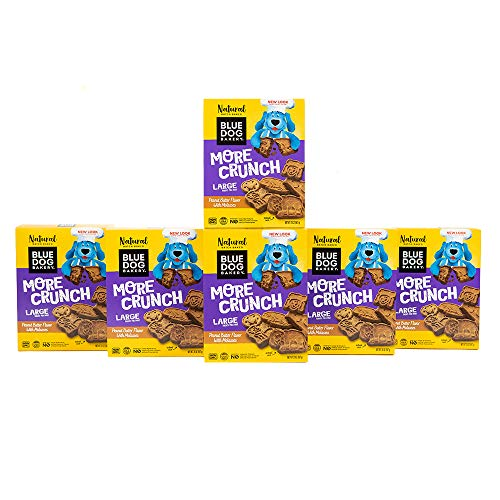 Blue Dog Bakery Natural Dog Treats, More Crunch Large, Peanut Butter Flavor, 20oz (6 Count)
