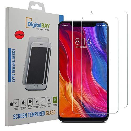 2 Pack Pellicola Vetro Temperato Xiaomi Mi 8 PRO Digital bay Protezione Antigraffi Resistente Pellicola Protettiva Protezione Protettore Glass Screen Protector per Xiaomi Mi 8 PRO