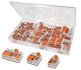 WAGO Klemme 60 Stück Set Sortiment 26x 221-412 | 20x 221-413 | 14x 221-415 in praktischer Klarsichtdose