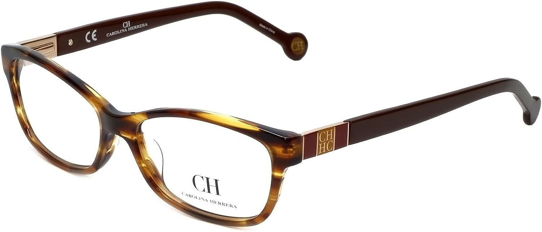 Carolina Herrera Designer Reading Glasses VHE6150794 in Havana 53mm