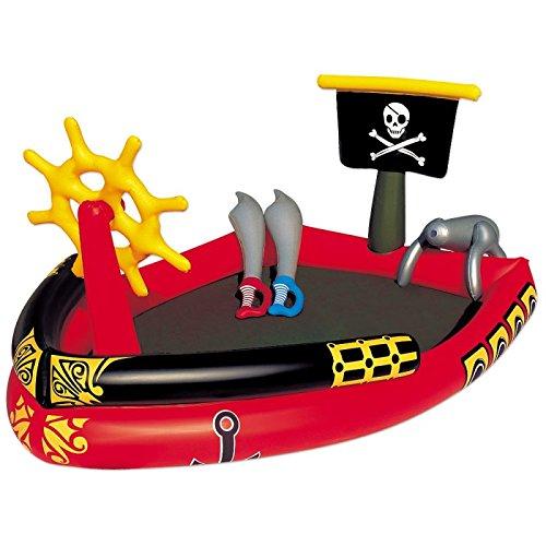 Bestway - Air de jeu et pataugeoire gonflable bateau de pirate 191 x 140 x 96 cm