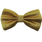 Ainow Pajarita con lazo para hombre, ideal para look más formal, forma ya atada Dorado dorado Talla única