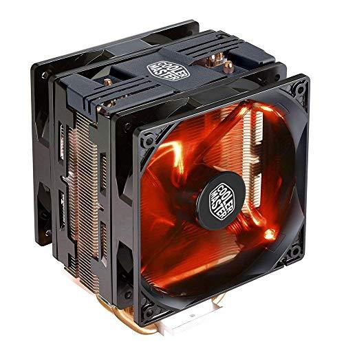 Cooler Master Hyper Compact CPU con Dual passanti tubi di contatto diretto Hyper 212 LED Turbo Black Top 4 Heat Pipes