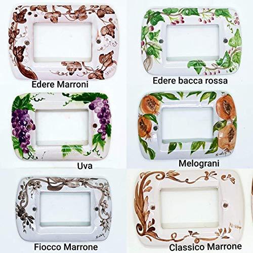 Placchette Bticino Living Ceramica Handmade Le Ceramiche del Castello Made in Italy