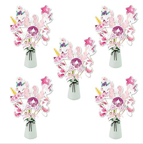 AIYANG 25 Stks Kids Party Decoratie Centerpiece Sticks Verjaardag Party Tafel Toppers Baby Douche Photo Booth Props Vaas Decoraties