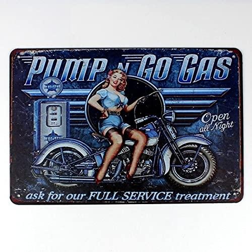 PMSMT Servicio Completo Tratamiento Cartel de Chapa de Metal 20 * 30 cm Pegatina decoración Bar Pub Home Vintage Retro Comic Poster Sticker