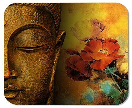 Buddha Statue Customized Rectangle Mousepad, Gaming Mouse Pad Mouse Mat