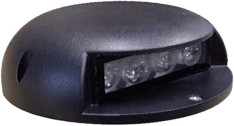 Led Spots,Wasserdichte Stehleuchte Für Den Auenbereich, Aluminiumdruckgussmaterial, Ein Lichtdurchlssiges,Mehrfarbiges Optionales Element für Innenhof-Gangwnde (Farbe   Weiß light-4W)