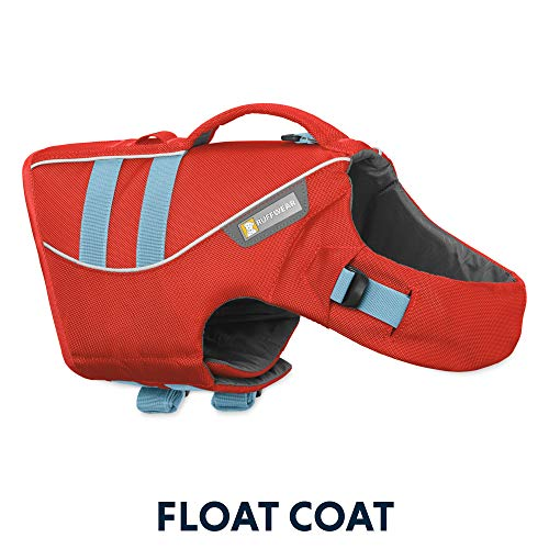 RUFFWEAR, Float Coat Dog Life Jacket for Swimming, Adjustable and Reflective, Sockeye Red, Large