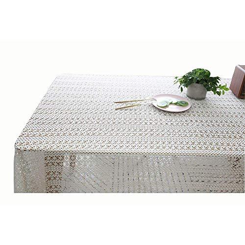 ZXL Inicio Crochet Cover Toalla Mantel de algodón Mantel Calado Tejido Mantel de Toalla de Piano (Color: Blanco, tamaño: 150 * 350)
