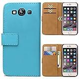 Roar Handytasche für Samsung Galaxy S3 / S3 Neo, Flipcase Tasche Schutzhülle Handyhülle für Samsung Galaxy S3 / S3 Neo Bookcase Wallet mit Magnet, Hellblau