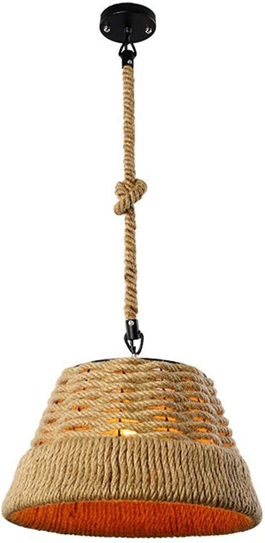 ZYY Chandeliers de corde de chanvre suspendus plafonniers décoratifs d'intérieur