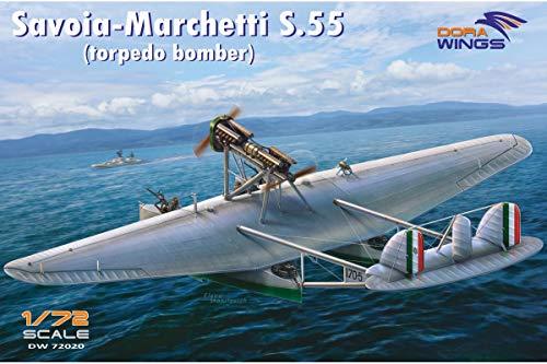 Dora Wings DW72020 Savoia Marchetti S.55 Italian Torpedo Bomber 1/72 Scale Aircraft Plastic Model Kit