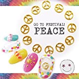 【速達メール便対応】PEACE ピースマークメタルパーツ(10個)peace smile スマイリー ヒッピー フェス 夏フェス ネイル レジンにも!