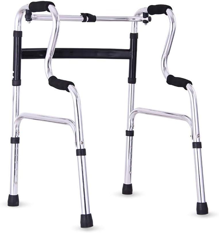 Andador para Caminar Plegable Deluxe sin Ruedas, Ligero, Plegable, Andador de Movilidad sin Ruedas para Adultos Mayores discapacitados, Altura Ajustable para Personas Bajas, Medias y Altas.
