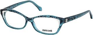 Roberto Cavalli RC5034-092 إطار نظارة أزرق مع عدسات تجريبية شفافة 54 ملم