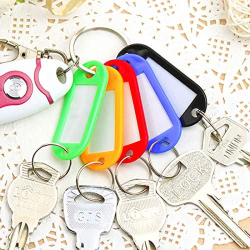 Plastic Key Tags 220 Pcs, 10 Colors Key Tags with Split Ring Label Window, Key ID Tags for Name Tag, Key Chain Tag, Luggage Tags Photo #7