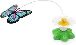 Xeminor Butterfly Toy for Cats Pet Cats Funny Rotating Electric Flying Butterfly Interactive Cat Toy