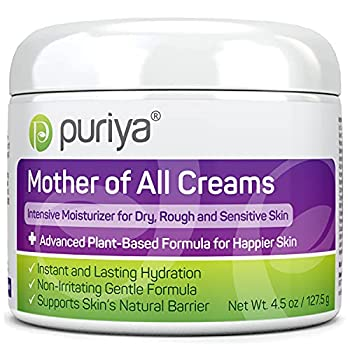 Plant Based Ultra Gentle Cream for Dry Itchy and Sensitive Skin Doctor Approved No Hydrocortisone Safe for Long Term Use on Face and Body No Artificial Fragrance Mother of All Creams by Puriya